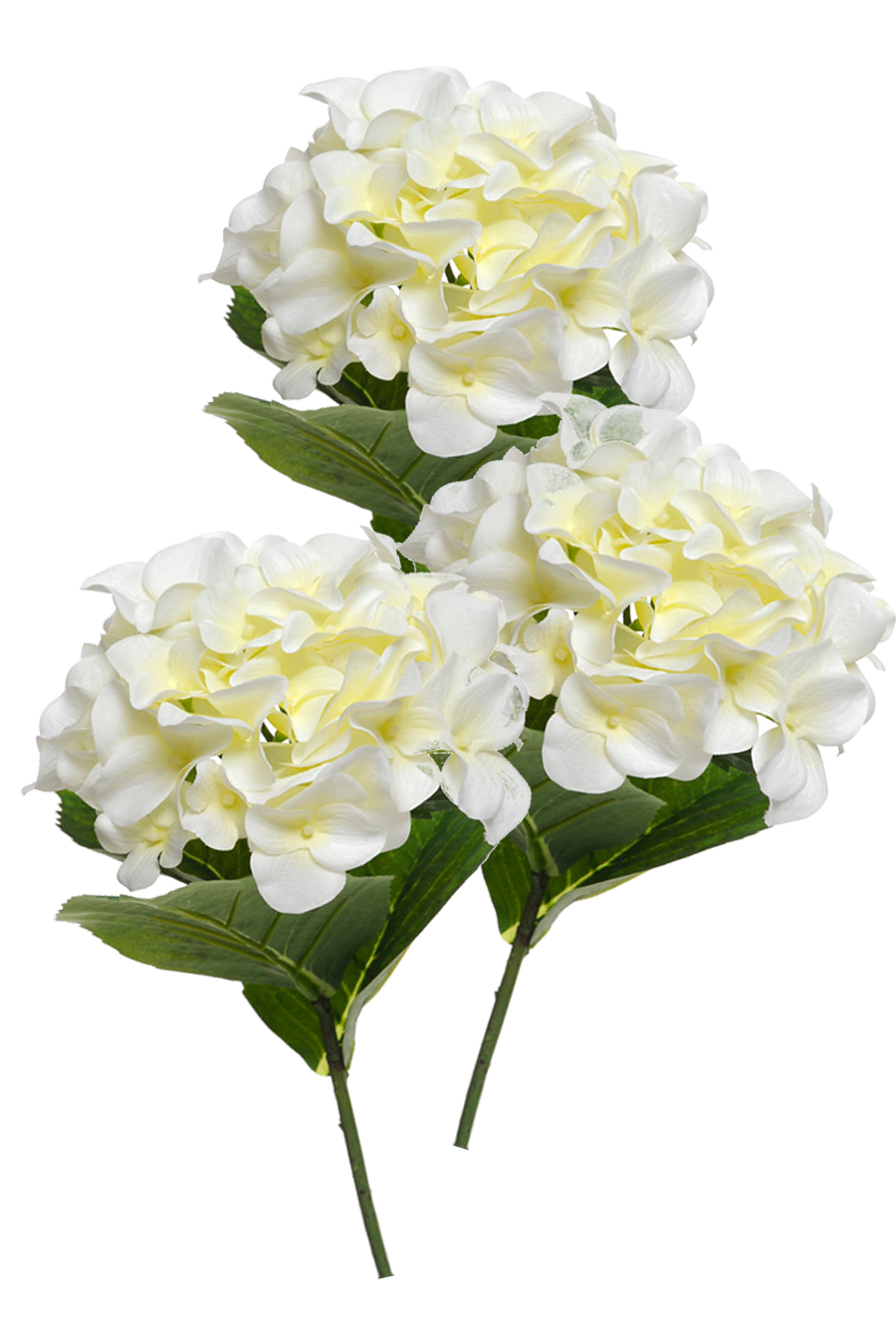hydrangea cream 3 silk flowers artificial arrangements. Black Bedroom Furniture Sets. Home Design Ideas