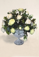 Blanche - Artificial roses - Artificial Flower Arrangement