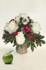 Amanda -artificial peonies - Artificial Flower Arrangement