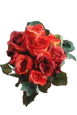 Rose bunch burnt orange - Artificial Flower Arrangement
