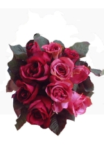 Rose bunch deep red - Artificial Flower Arrangement