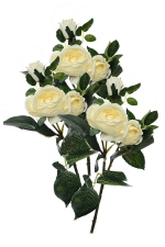 Rose spray cream 3 - Artificial Flower Arrangement