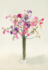 Katia - silk sweet peas - Artificial Flower Arrangement