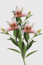 Lily Stargazers 3 - Artificial Flower Arrangement