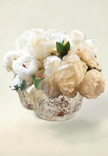 Adeline - Silk Peonies - Artificial Flower Arrangement