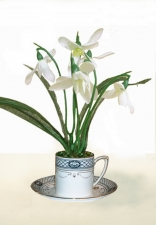 Cara -artificial snowdrops - Artificial Flower Arrangement