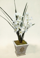 Alice - Artificial Cybidium Orchid - Artificial Flower Arrangement