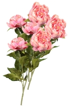 Peony Spray Antique Pink 3 - Artificial Flower Arrangement