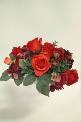 Scarlet Artificial Flower Arrangement