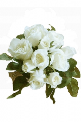 Rose bunch white Artificial Flower Arrangement