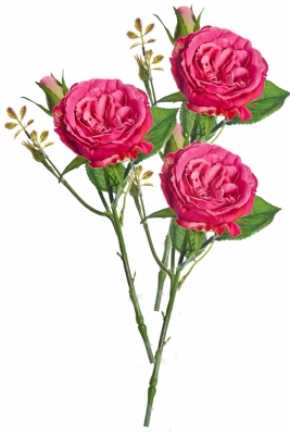 Roses mid pink 3 Artificial Flower Arrangement