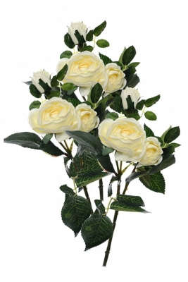 Rose spray cream 3 Artificial Flower Arrangement