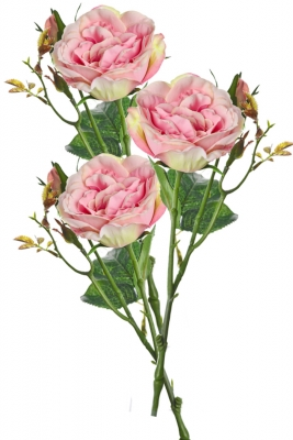 Rose Pale Pink 3 Artificial Flower Arrangement