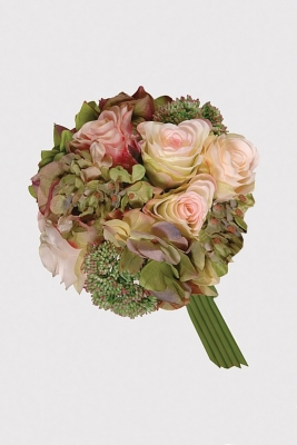 Rose and Hydrangea Posy Artificial Flower Arrangement