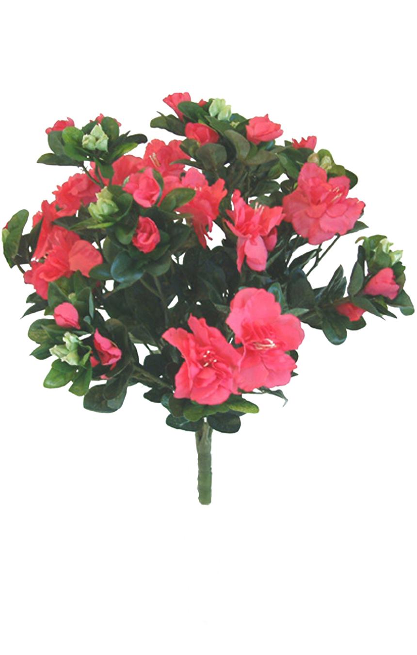 Azalea bush dark pink silk flowers artificial arrangements pene azalea bush dark pink artificial flower arrangement mightylinksfo